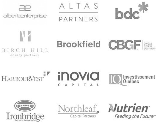 A collection of logos from companies that are CVCA members