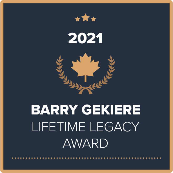 Barry Gekiere Lifetime Legacy Award
